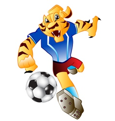 Tiger football mascot vector