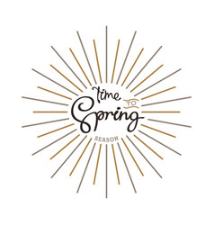 time to spring vector image vector image