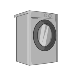 Washer icon black monochrome style vector