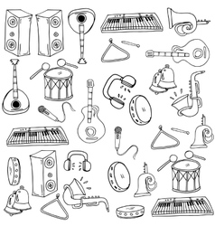 Doodle of music element vector image
