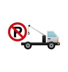 Parking zone signal icon vector