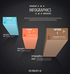 Infographics minimal 4 vector