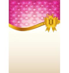 Abstract pink invitation card vector image