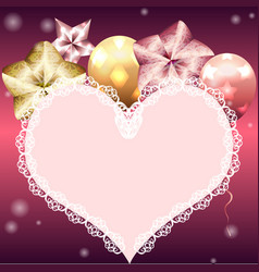 Template for valentines day card vector
