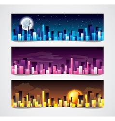 Night city banners vector