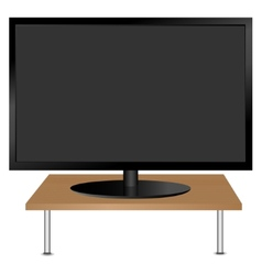 Black monitor on the table vector image