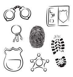 Investigation icons vector