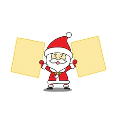 Funny Santa claus with a sheet of paper vector image