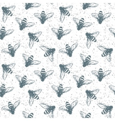 Grunge seamless pattern with insects vector