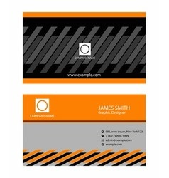 Abstract professional business card vector