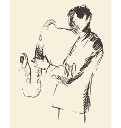 Jazz poster saxophone music acoustic consept vector