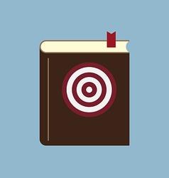 Target goal setting book vector