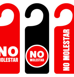 No molestar do not disturb signs vector