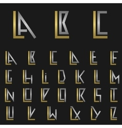 Letter l with alphabet vector