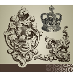 baroque ornaments vector image