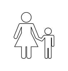 Family concept pictogram iconflat and isolated vector
