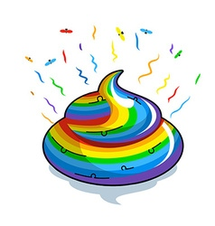 Unicorn shit Turd colors of rainbow Multicolored vector image