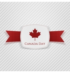 Canada day festive tag with ribbon vector