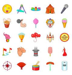 air balloon icons set cartoon style vector image vector image
