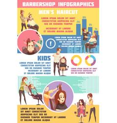 Barbershop infographic set vector