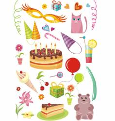 Birthday design elements vector