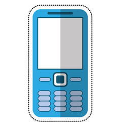 cartoon mobile phone call technology vector image