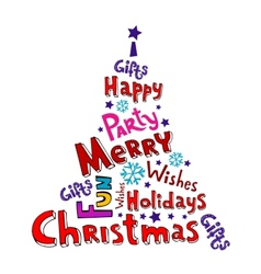 Christmas inscriptions vector