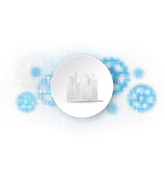 city technology cover template cityscape vector image