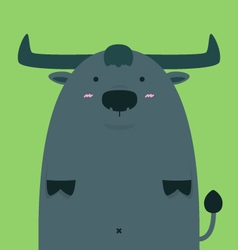 cute fat big Thai buffalo vector image vector image