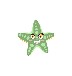 cute starfish sea creature hand drawn vector image