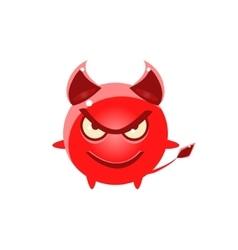 Devil evil round character emoji vector