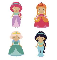 four fantastic princesses vector image vector image