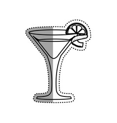 Glass cocktail margarita vector