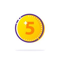 gold coin icon vector image