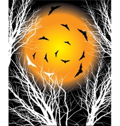 Halloween moon night background vector image vector image