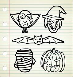 haloween character vector image