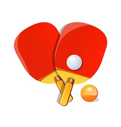 icon ping pong vector image vector image