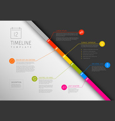 Infographic diagonal timeline template vector