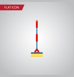 isolated cleaner flat icon sweep element vector image vector image