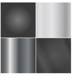 Metal background collection brushed steel vector