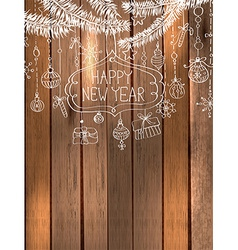 Natural Decoration for beautiful Holiday design vector image vector image