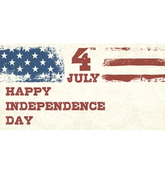 retro style independence day design vector image vector image