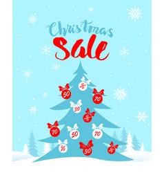 sale winter card vector image vector image