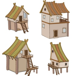 Set of cute houses for you design vector image vector image