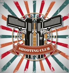 Symbol shooting club vector image vector image