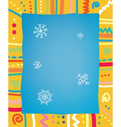 Template with frame and snow for christmas of vector