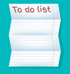 To do list in line on a blue background vector