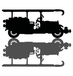 Vintage black firetruck vector image vector image