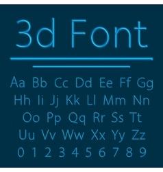 Volumetric 3d Alphabet vector image