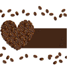 Banner from coffee beans vector